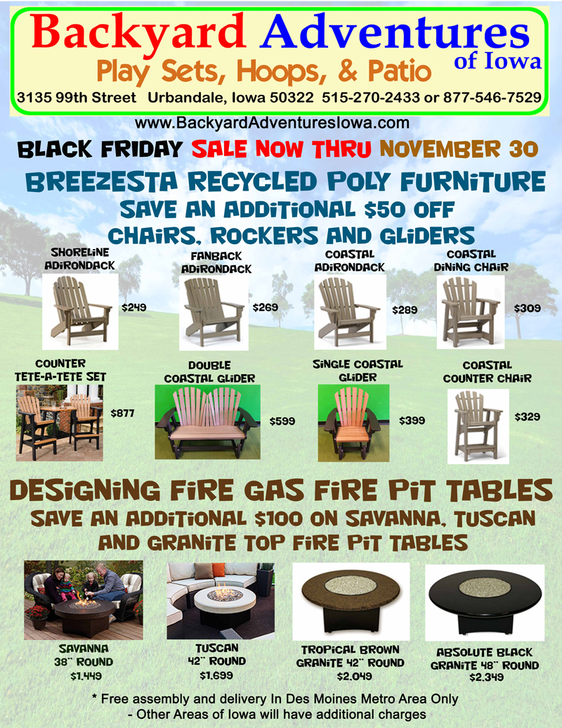 Outdoor Furniture from Breezesta Hanamint and Sunset West at Backyard Adven