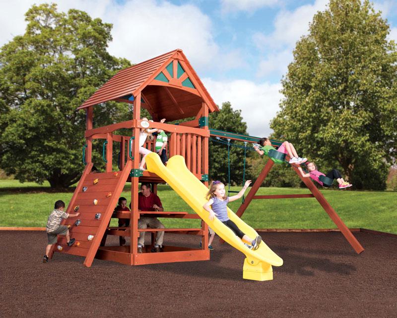 Backyard Adventures Adventure Treehouse Junior 2 Wood Roof Playset